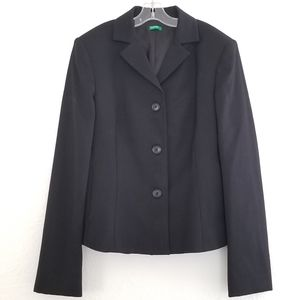 United Colors of Benetton Black Wool Suit …
